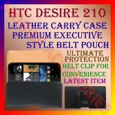 ACM-BELT CASE for HTC DESIRE 210 MOBILE LEATHER CARRY POUCH RICH COVER CLIP NEW