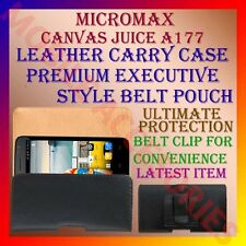 ACM-BELT CASE for MICROMAX CANVAS JUICE A177 MOBILE LEATHER CARRY POUCH COVER