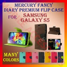 ACM-MERCURY PREMIUM DIARY FLIP CASE for SAMSUNG GALAXY S5 MOBILE WALLET COVER
