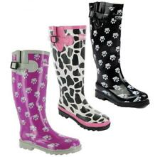 Cotswold DOG PAW/MOO WELLY Womens Ladies Waterproof Wellies Wellington Boots New