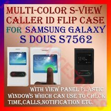 ACM-S-VIEW SMART INTERACTIVE LEATHER FLIP CASE for SAMSUNG GALAXY S DUOS S7562
