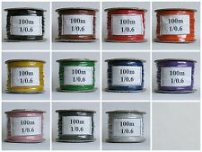 100m Reel  1/0.6mm - 22-23 AWG* Solid Core Equipment Wire - 11 Colours - Hook up