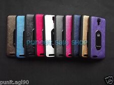 Micromax Canvas Juice A77 A177 Dual Tone Soft Rubber Back Cover Case Metal Plate