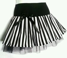 Black & White Beetlejuice tutu skirt. Goth. Halloween. Dance. 8-10-12-14-16