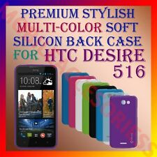 ACM-PREMIUM MULTI-COLOR SOFT SILICON BACK CASE for HTC DESIRE 516 MOBILE COVER