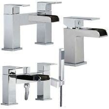 Open U Spout Waterfall Bathroom Bath Shower Basin Mixer Tap Choice (Desire)