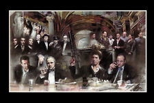 Mafia,scarface,godfather,sopranos Canvas Print Decor, Choose Your Size !!!