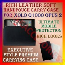 ACM-RICH LEATHER SOFT CARRY CASE for XOLO Q1000 OPUS 2 MOBILE HANDPOUCH COVER
