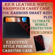 ACM-RICH LEATHER SOFT CARRY CASE for KARBONN SMART A25+ PLUS HANDPOUCH COVER NEW