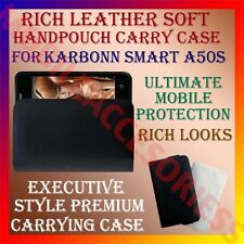 ACM-RICH LEATHER SOFT CARRY CASE for KARBONN SMART A50S MOBILE HANDPOUCH COVER