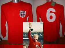England 1966 Moore Retro Shirt Jersey BNWT S M L XL West Ham Football Cotton L/S