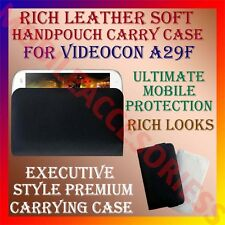 ACM-RICH LEATHER SOFT CARRY CASE for VIDEOCON A29F MOBILE HANDPOUCH COVER POUCH