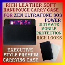 ACM-RICH LEATHER SOFT CARRY CASE of ZEN ULTRAFONE 303 POWER HANDPOUCH COVER NEW