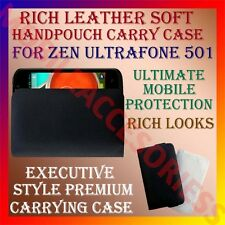 ACM-RICH LEATHER SOFT CARRY CASE for ZEN ULTRAFONE 501 MOBILE HANDPOUCH COVER