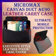 ACM-HORIZONTAL LEATHER CARRY CASE for MICROMAX CANVAS DUET AE90 RICH POUCH COVER