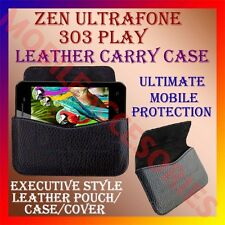 ACM-HORIZONTAL LEATHER CARRY CASE for ZEN ULTRAFONE 303 PLAY POUCH COVER HOLDER