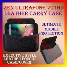 ACM-HORIZONTAL LEATHER CARRY CASE for ZEN ULTRAFONE 701HD POUCH COVER HOLDER NEW