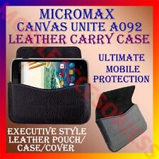 ACM-HORIZONTAL LEATHER CARRY CASE for MICROMAX CANVAS UNITE A092 POUCH COVER NEW