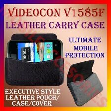 ACM-HORIZONTAL LEATHER CARRY CASE for VIDEOCON V1585F POUCH PREMIUM COVER HOLDER