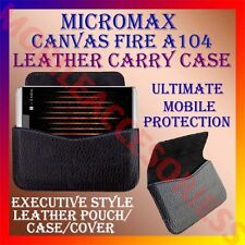 ACM-HORIZONTAL LEATHER CARRY CASE for MICROMAX CANVAS FIRE A104 POUCH COVER NEW
