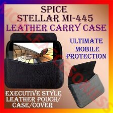 ACM-HORIZONTAL LEATHER CARRY CASE for SPICE STELLAR MI-445 MOBILE POUCH COVER