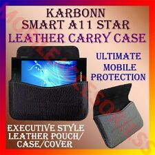 ACM-HORIZONTAL LEATHER CARRY CASE for KARBONN SMART A11 STAR MOBILE POUCH COVER