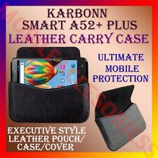 ACM-HORIZONTAL LEATHER CARRY CASE for KARBONN SMART A52+ PLUS MOBILE POUCH COVER