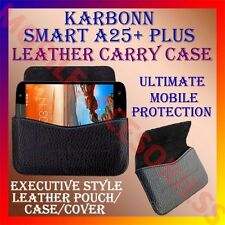 ACM-HORIZONTAL LEATHER CARRY CASE for KARBONN SMART A25+ PLUS MOBILE POUCH COVER