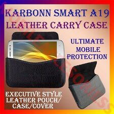 ACM-HORIZONTAL LEATHER CARRY CASE for KARBONN SMART A19 MOBILE RICH POUCH COVER