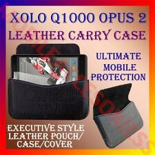 ACM-HORIZONTAL LEATHER CARRY CASE for XOLO Q1000 OPUS 2 MOBILE POUCH COVER NEW