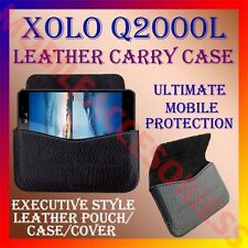 ACM-HORIZONTAL LEATHER CARRY CASE for XOLO Q2000L MOBILE POUCH COVER HOLDER NEW