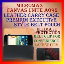 ACM-BELT CASE for MICROMAX CANVAS UNITE A092 LEATHER CARRY POUCH COVER CLIP NEW