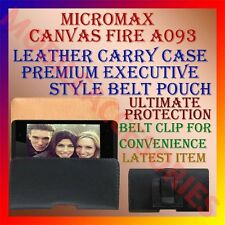 ACM-BELT CASE for MICROMAX CANVAS FIRE A093 LEATHER CARRY POUCH COVER CLIP NEW