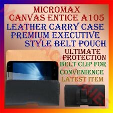ACM-BELT CASE for MICROMAX CANVAS ENTICE A105 LEATHER CARRY POUCH PREMIUM COVER
