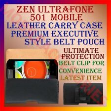 ACM-BELT CASE for ZEN ULTRAFONE 501 MOBILE LEATHER CARRY POUCH COVER CLIP HOLDER