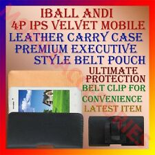 ACM-BELT CASE for IBALL ANDI 4P IPS VELVET MOBILE LEATHER CARRY POUCH COVER CLIP