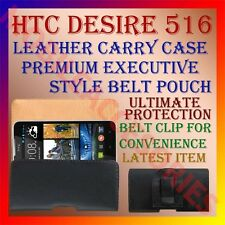 ACM-BELT CASE for HTC DESIRE 516 MOBILE LEATHER CARRY POUCH PREMIUM COVER CLIP