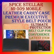 ACM-BELT CASE for SPICE STELLAR MI-509 MOBILE LEATHER CARRY POUCH COVER HOLDER
