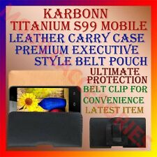 ACM-BELT CASE for KARBONN TITANIUM S99 MOBILE LEATHER CARRY POUCH COVER CLIP NEW