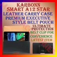 ACM-BELT CASE for KARBONN SMART A12 STAR MOBILE LEATHER CARRY POUCH COVER CLIP