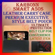 ACM-BELT CASE for KARBONN SMART A50S MOBILE LEATHER CARRY POUCH COVER CLIP NEW