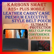 ACM-BELT CASE for KARBONN SMART A25+ PLUS MOBILE LEATHER CARRY POUCH RICH COVER