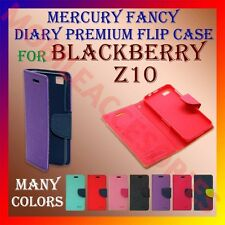 ACM-MERCURY PREMIUM DIARY FLIP FLAP CASE for BLACKBERRY Z10 MOBILE WALLETCOVER