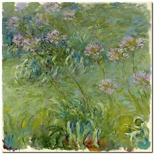 Quadro Claude Monet 'Agapanthe'  Stampa su Tela Canvas