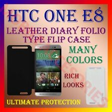 ACM-LEATHER DIARY FOLIO FLIP CASE for LATEST HTC ONE E8 FULL FRONT & BACK COVER