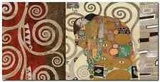 Quadro Klimt Patterns 'The Embrace (Pewter) ' Stampa su Tela Canvas