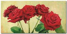 Quadro Angelo Masera 'Rose rosse' Stampa su Tela Canvas