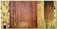 Quadro Klimt Patterns 'Forest II' Stampa su Tela Canvas