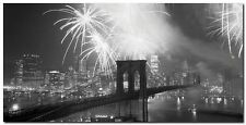 Quadro Fuochi d'Artificio sul Ponte di Brooklyn' Stampa su Tela Canvas