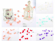 Beautiful Rose Flower LED battery fairy string flashing garden lights cable 2M